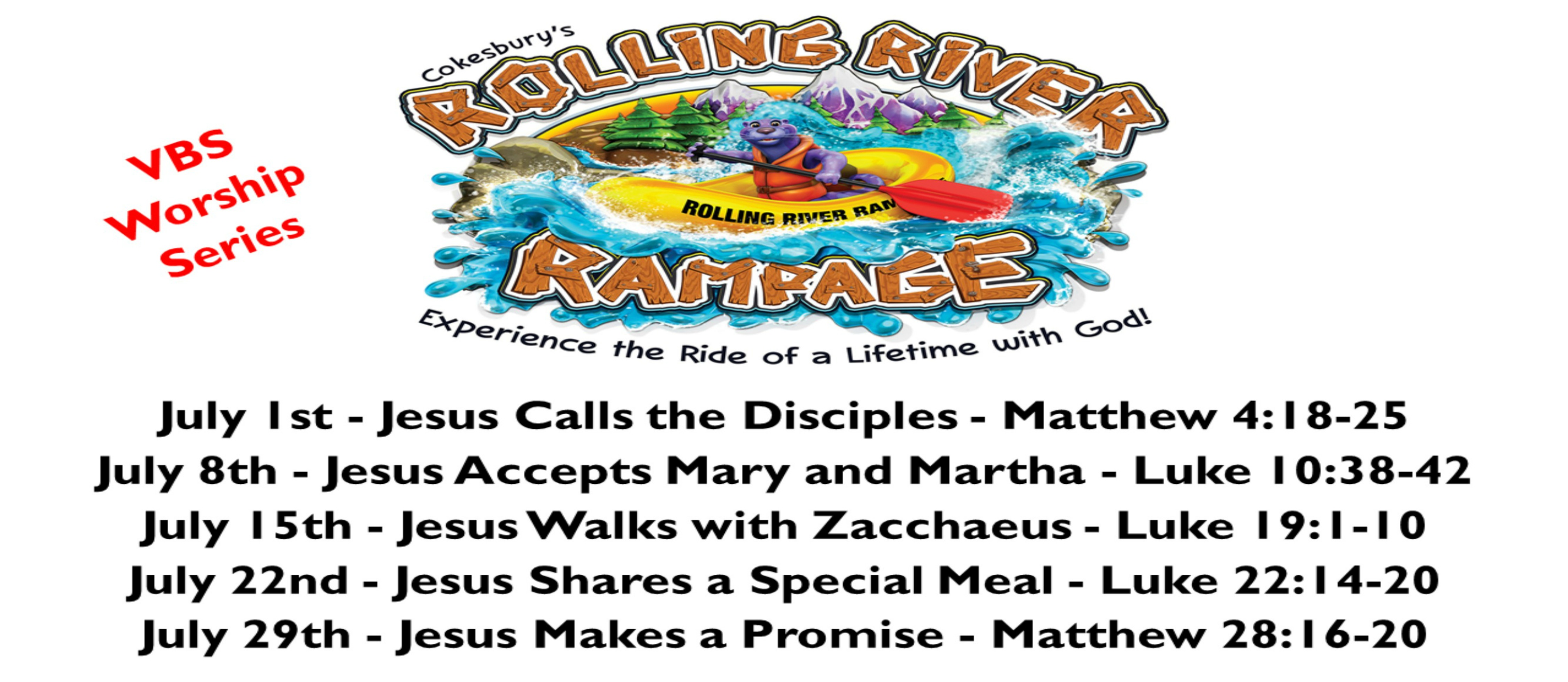 VBS 2018 Andover UMC Rolling River Rampage